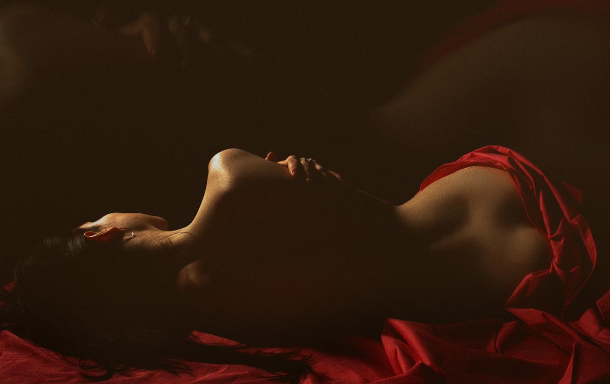 sexy back lying down